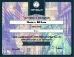 Certificate Maria A. Di Rosa