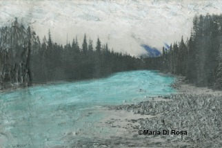 ©Maria-Di-Rosa-encaustic-mixed-media-169-Walkway-II-Alberta